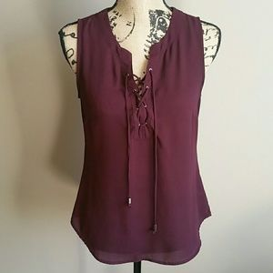 Tops - NY&CO Maroon Small Sleeveless Blouse